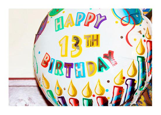 Открытка с днем рождения для мальчика 13 лет